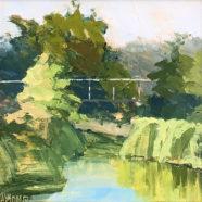 oil painting of san antonio river by andrea almond | Felder Gallery