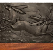 bronze sculpture of jackrabbits by david everett | Felder Gallery