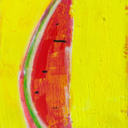 multi media slice of watermelon by cande aguilar | Felder Gallery