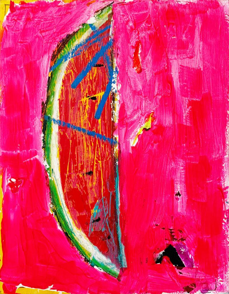 multi media slice of watermelon by cande aguilar | Felder Gallery