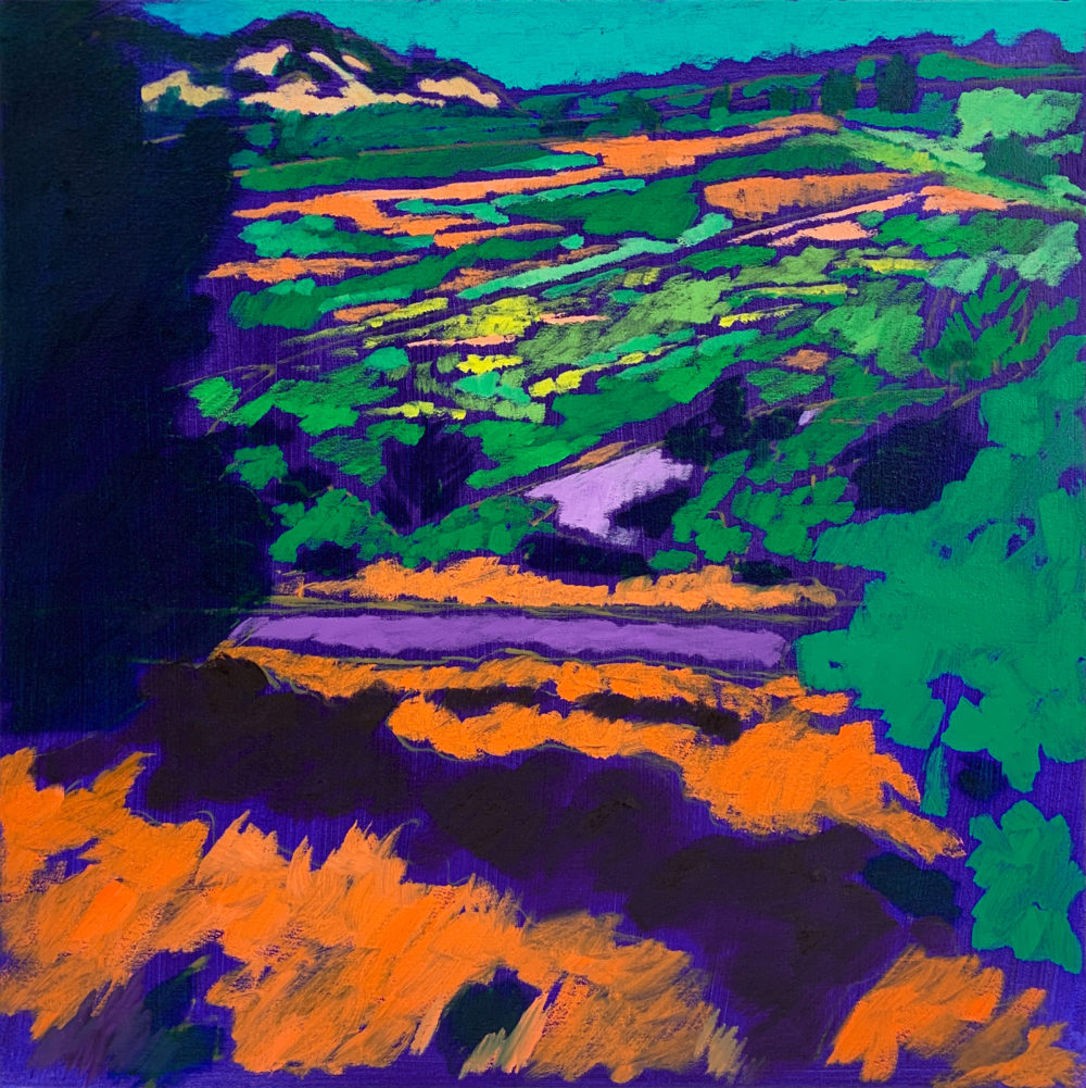 colorful oil landscape by elizabeth payne | Felder Gallery