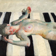 figure painting of woman on a beach by john asaro | Felder Gallery