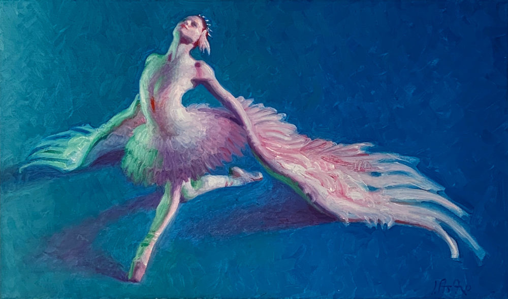 figure painting of ballerina by john asaro | Felder Gallery