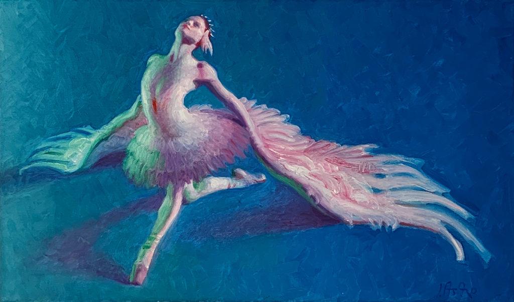 figure painting of ballerina by john asaro | Felder Gallery