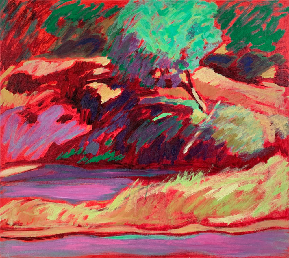 abstract landscape painting in oil by elizabeth payne | Felder Gallery