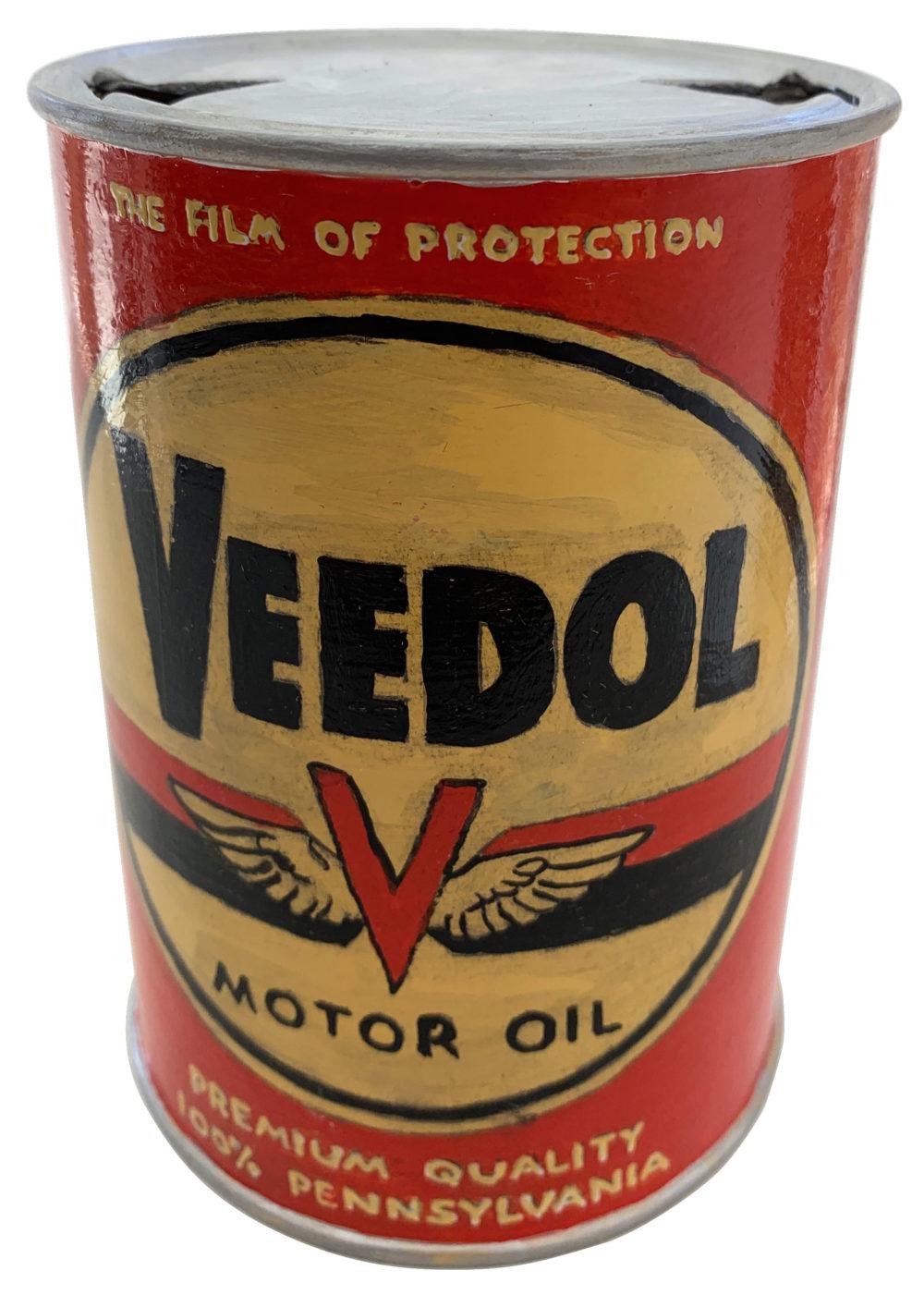 wood sculpture of an oil can by rick kroninger | Felder Gallery