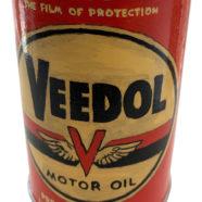 wood sculpture of an oil can by rick kroninger   Felder Gallery