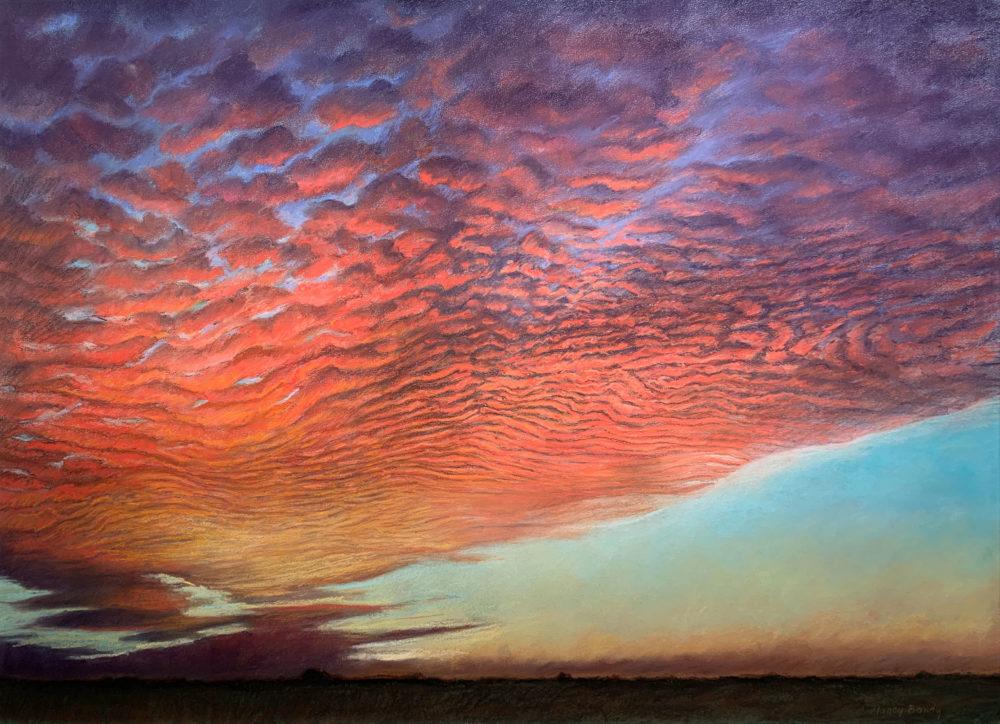 cloudscape drawing by nancy bandy | Felder Gallery