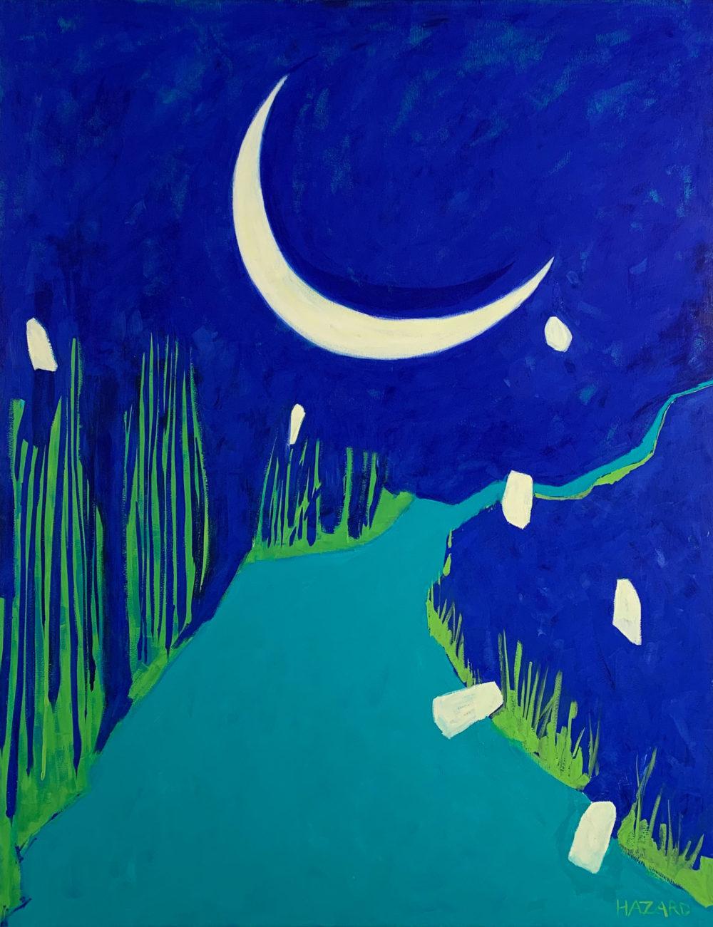 abstract landscape scene by robin hazard | Felder Gallery