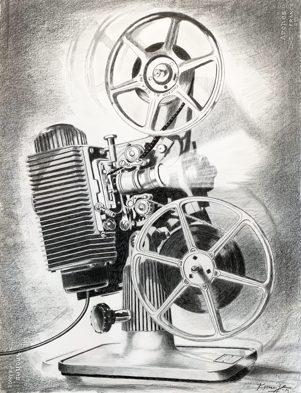 pencil drawing of analog object rick kroninger | Felder Gallery